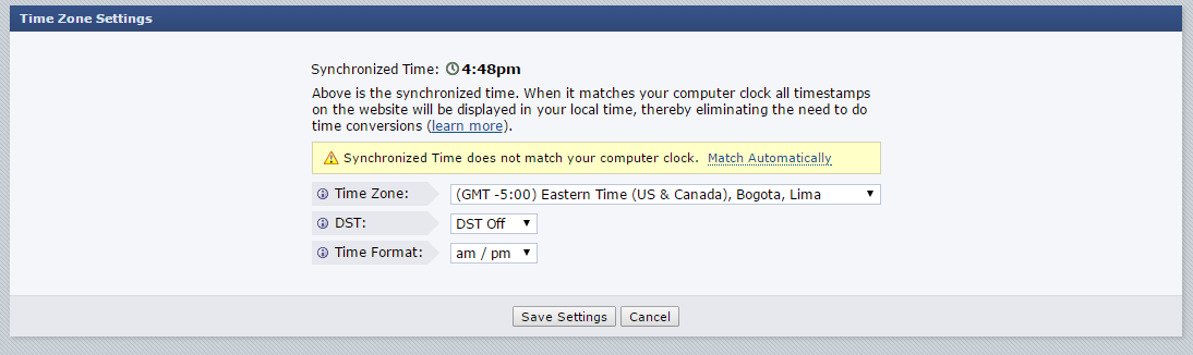 Forex Factoryy calendar time zone settings