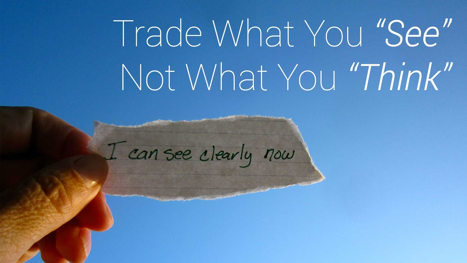 Trend Trading Rules Trade What You See And Not What You Think