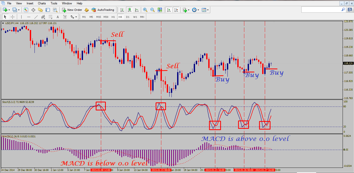 MACD Stochastic Forex Trading Strategy